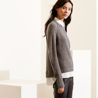 Ralph Lauren Layered Wool-Cashmere Sweater $155 thestylecure.com