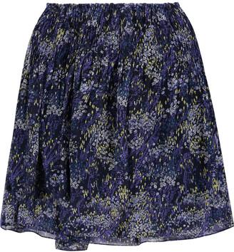 Joie Gazania printed silk-chiffon mini skirt $218 thestylecure.com