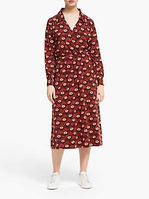 People Tree V&A Daisy Midi Dress, Red