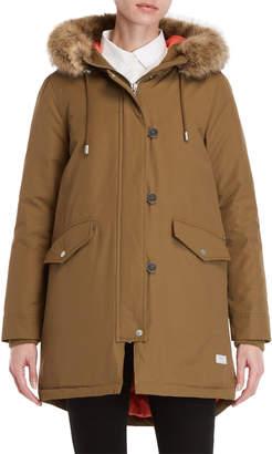 Parka London Stormont Faux Fur-Trimmed Coat