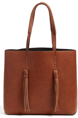 Chelsea28 Adriana Fringe Faux Leather Tote - Brown