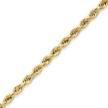 "JCPenney Gold Chains, 10K 18-24"" 2.9mm Rope"