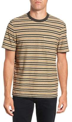 James Perse Vintage Stripe Regular Fit Pocket T-Shirt
