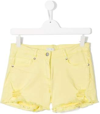 Elsy TEEN distressed detail denim shorts