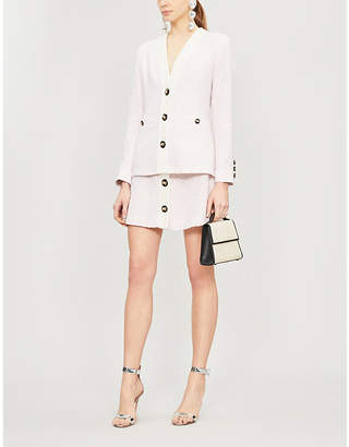 Alessandra Rich Buttoned fitted tweed blazer