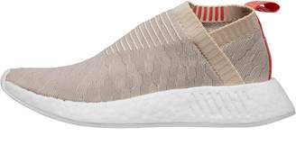 adidas Womens NMD_CS2 Primeknit Trainers Linen/Vapour Grey/Footwear White