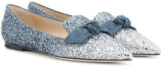 Jimmy Choo Gabie glitter ballet flats