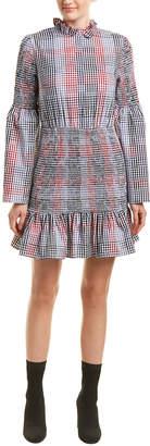 ENGLISH FACTORY Smocked Check Shift Dress