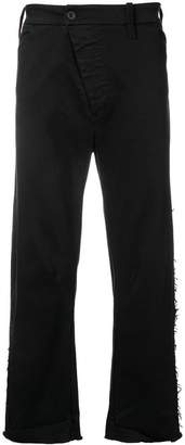 Lost & Found Rooms frayed curved leg trousers