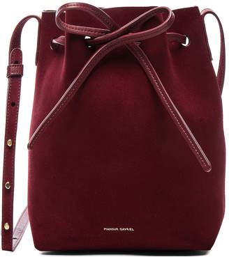 Mansur Gavriel Mini Bucket Bag in Rococo Suede | FWRD