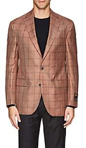 Jack Victor MEN'S CHECKED TWO-BUTTON SPORTCOAT-PINK SIZE 39 R