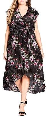 City Chic Lolita Floral High/Low Dress