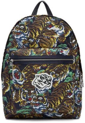 Kenzo Multicolor Flying Tiger Backpack
