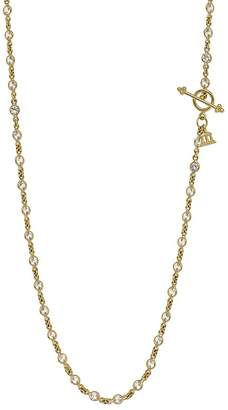Temple St. Clair 18K Yellow Gold Classic Chain with Faceted White Sapphires, 18''