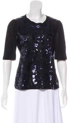 Rebecca Taylor Embellished Linen Top