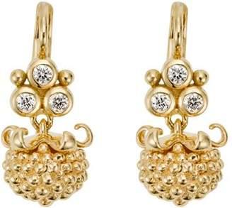 Temple St. Clair 18K Yellow Gold Mini Pod Drop Earrings with Diamonds