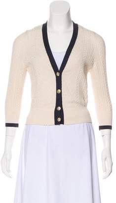 Chanel Quilted V-Neck Cardigan