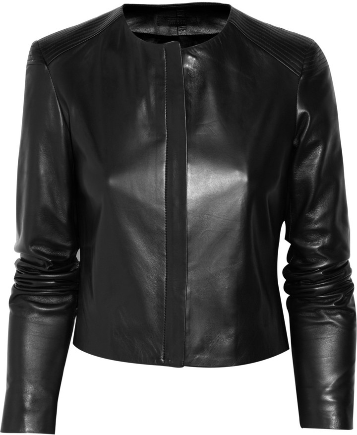 The Row Rider collarless leather jacket