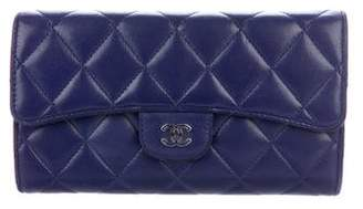 Chanel Quilted Lambskin Continental Wallet