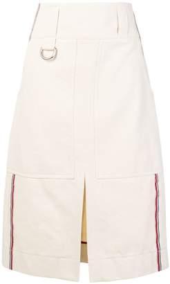 Burberry striped denim skirt