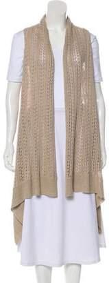 Alice + Olivia Linen Open Knit Vest