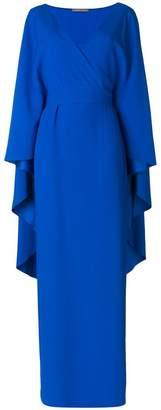 Alberta Ferretti long draped dress