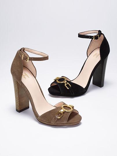 Victoria's Secret Collection Monogram Block-heel Sandal