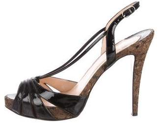 Christian Louboutin Patent Leather Slingback Sandals