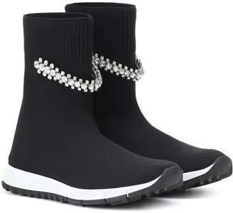 Jimmy Choo Regena embellished sock sneakers