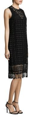Laundry by Shelli Segal Fringe Hem Shift Dress $195 thestylecure.com