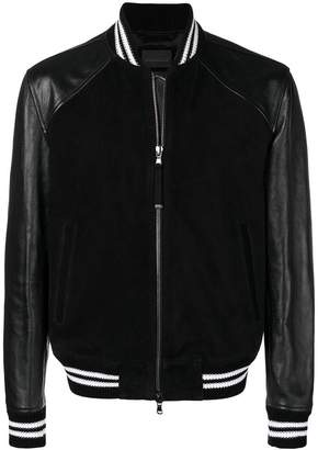 Diesel Black Gold panelled varsity jacket