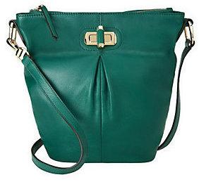 As Is B. Makowsky Glove Leather Crossbody Bag