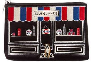 Lulu Guinness Embroidered Cosmetic Bag