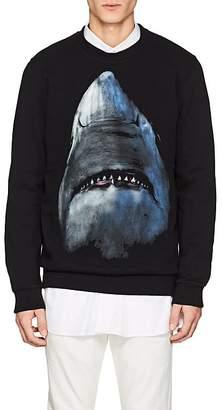 Givenchy Men's Shark-Print Cotton Fleece Cuban-Fit Sweatshirt