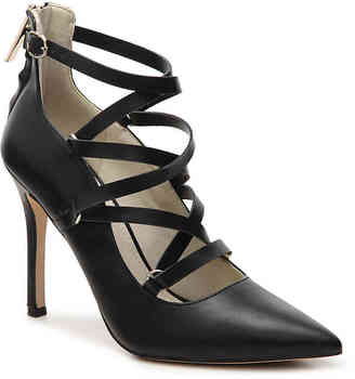 Women's Takara Pump -Black Faux Leather $98 thestylecure.com