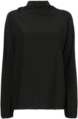 Prada back pussy bow blouse
