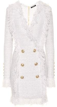 Balmain Exclusive to Mytheresa – Double-breasted bouclé dress