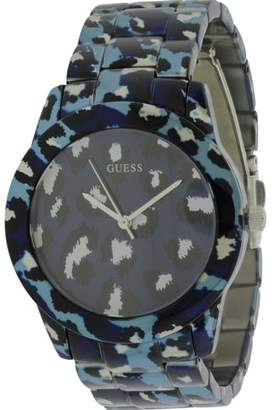 GUESS Blue Animal Print Bracelet Ladies Watch U0425L1