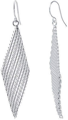 Jcpenney Silver Reflections Plated Mesh Kite Earrings