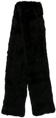 Vince Knitted Fur Scarf w/ Tags