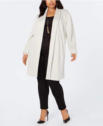 INC International Concepts I.n.c. Plus Size Faux-Suede Cocoon Jacket