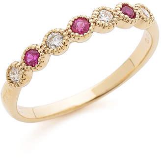 Gilt Sweet Jewelry Collection K18YG ダイヤモンド ルビー リング イエローゴールド 13