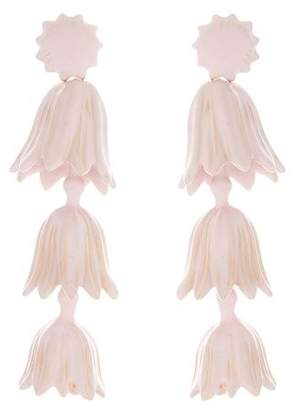 Oscar de la Renta Tiered Flower Earrings