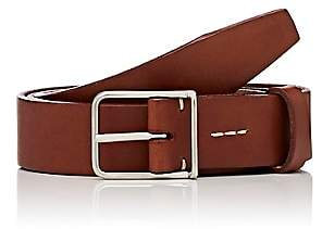 Felisi MEN'S THIN-BUCKLE LEATHER BELT-BROWN SIZE 40