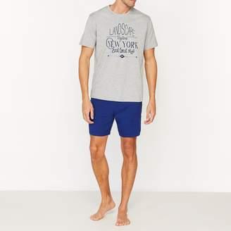 La Redoute Collections Two-Colour Cotton Jersey Short Pyjamas