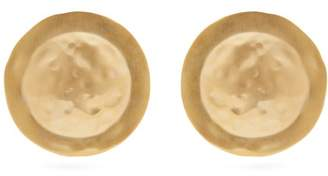 Loewe Shield Hammered Earrings - Womens - Gold