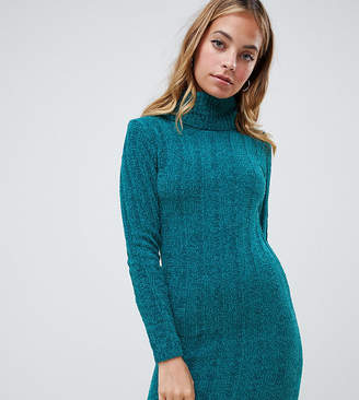 Brave Soul Petite Perrie Roll Neck Sweater Dress