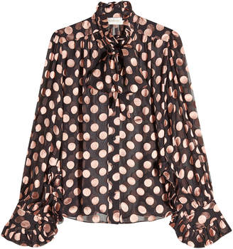 Zimmermann Printed Blouse with Silk