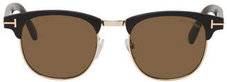 Tom Ford Black and Gold Laurent Sunglasses