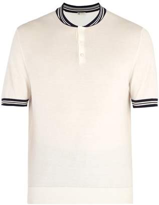 Connolly - Cotton Knit Racing Polo Shirt - Mens - White